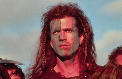Mel Gibson esittää vapaustaistelija William Wallacea.